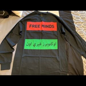 Drake OVO Arabic Free Minds Long Sleeve tee M